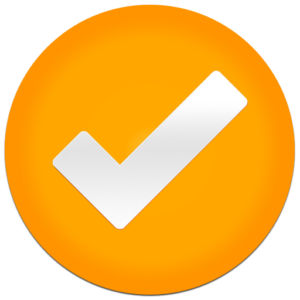 tick icon orange