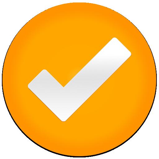 tick icon orange